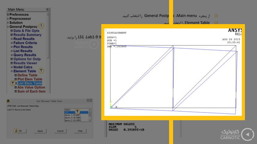 تحلیل تنش استاتیکی خرپای دوبعدی در نرم افزار مهندسی انسیس (Ansys)