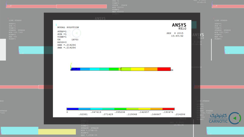 تحلیل تنش استاتیکی تیر با سطح مقطع متغیر در نرم افزار انسیس