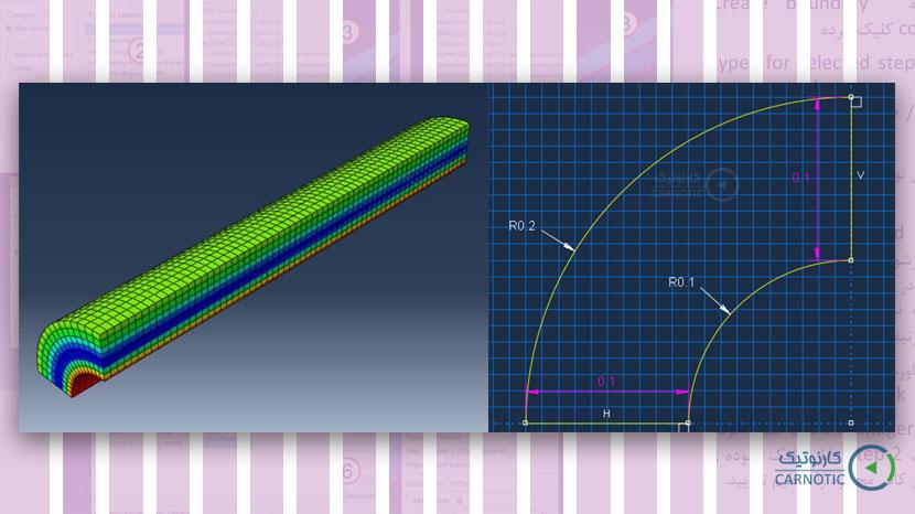 شبیهسازی فرآیند اتوفرتاژ و تنش پسماند در ماده سختشونده در نرم افزار آباکوس